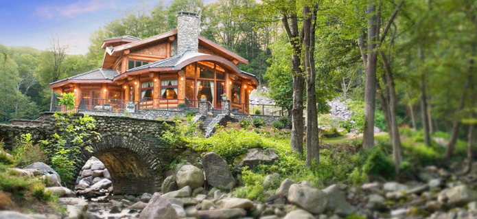 Beautiful log home pictures