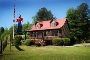 Paul Bunyan at Log Cabin Homes