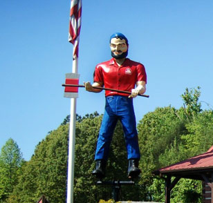 Paul Bunyan at our Rocky Mount Sales Center