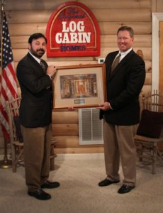 Simpson Door Presents Mastermark® Award of Excellence to The Original Log Cabin Homes