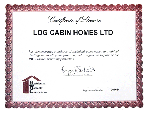Original Log Cabin Homes Receives Recognition The