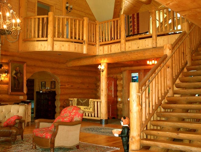 Log Cabin Homes & Kits: Interior Photo Gallery
