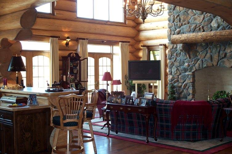 log home interior photos. 42 Log Cabin Homes  Kits Interior Photo Gallery