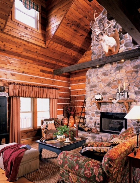 Handcrafted Log Home Tour Log Cabin Homes