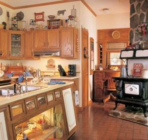 The Wintergreen III Kitchen Area