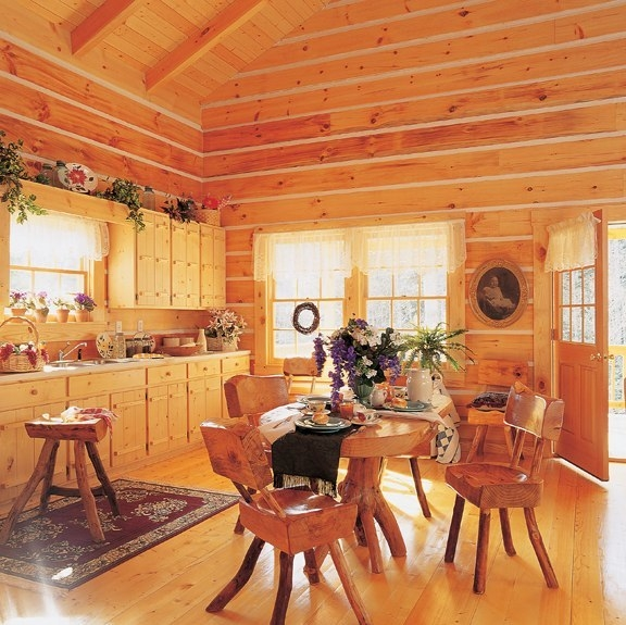 BCL73Log Cabin Homes   Kits  Interior Photo Gallery. Log Home Interior Photos. Home Design Ideas