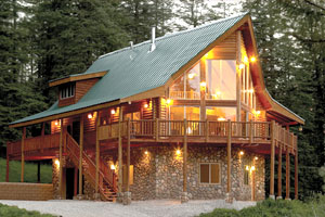 Www.logcabinhomes on Mountain Cottage Floor Plan