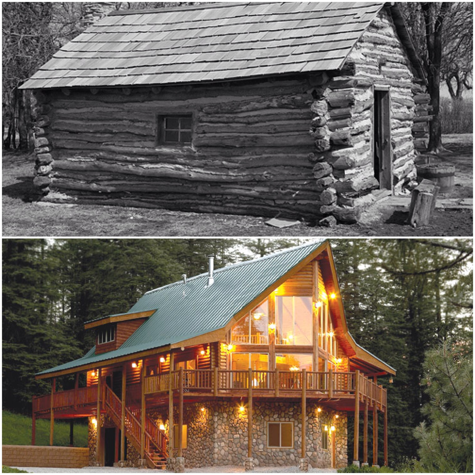 Humble Beginnings The Original Log Cabin Homes