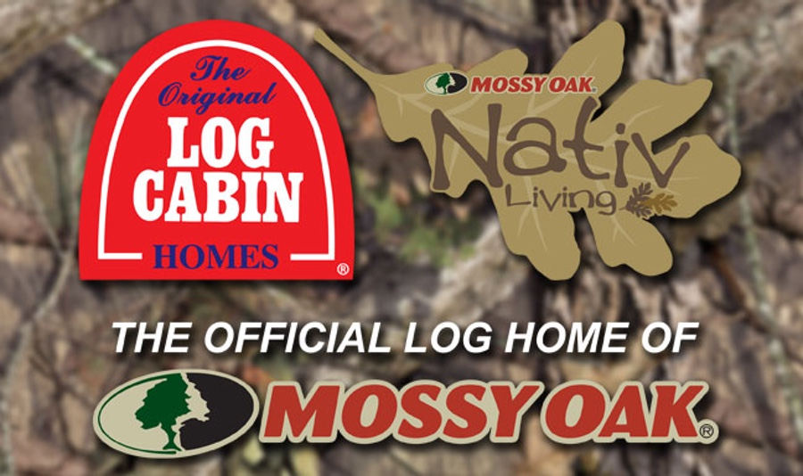 Mossy Oak<sup>®</sup> Partners with The Original Log Cabin Homes