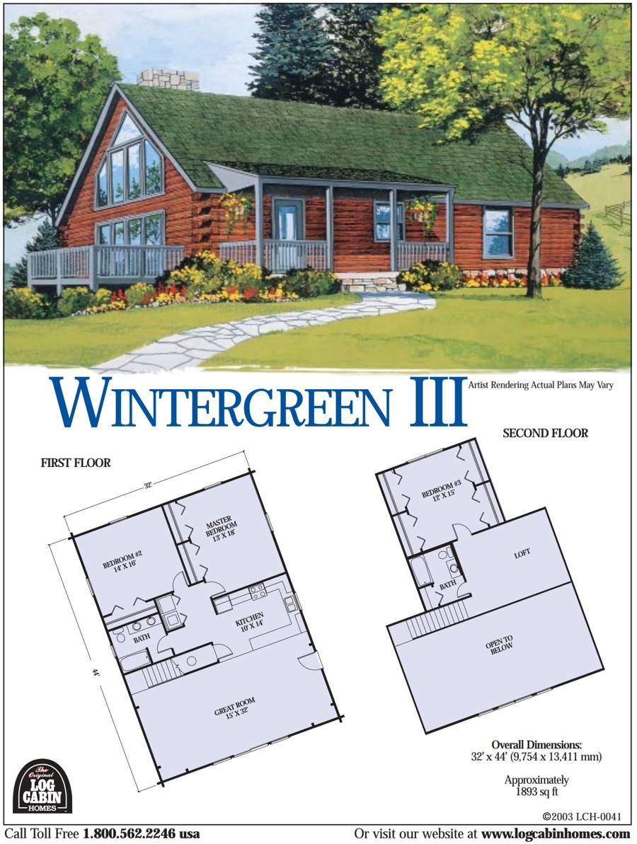 The original log cabin homes log home kits construction for Cabin floor plans and prices