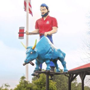 Paul Bunyan and Babe along I-95 in Rocky Mount, NC