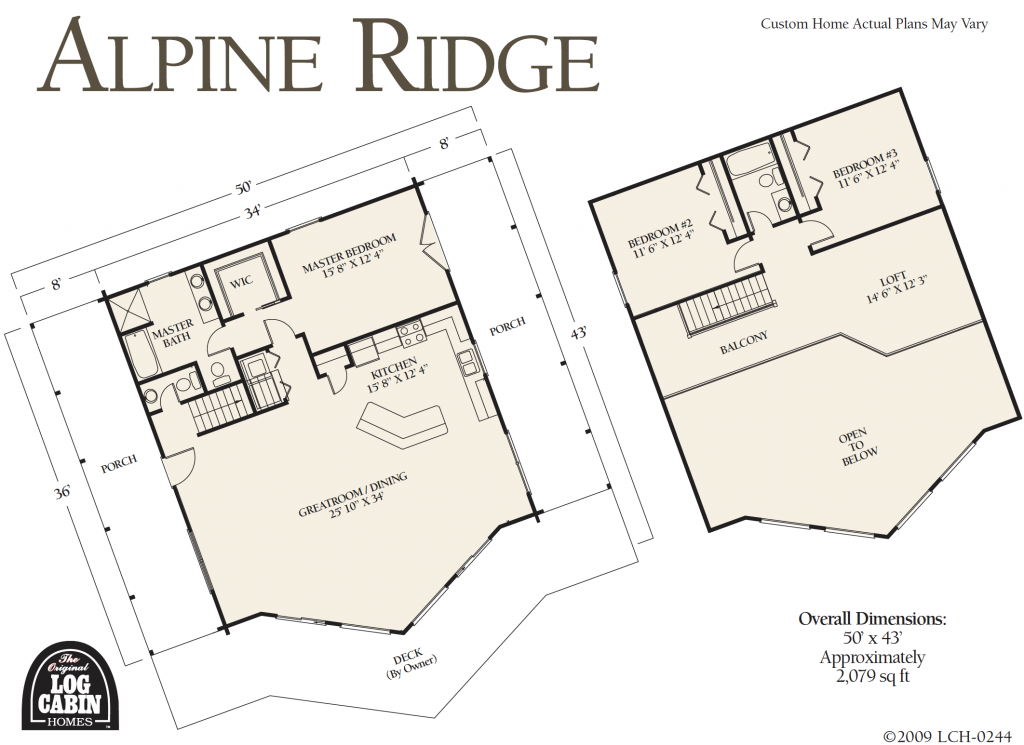 Alpine Ridge Log Home Package Floor plan